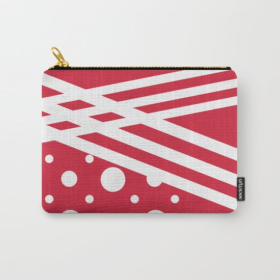 White dots on a red background. Carry-All Pouch