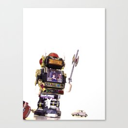 Robot Attack Canvas Print