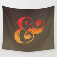 ampersand Wall Tapestries featuring Ampersand by TheCore