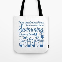 Swimming Gigi Tote Bag