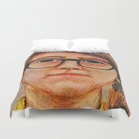 sam smith Duvet Covers featuring Sam by Cameron Wright