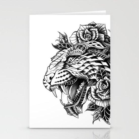 Ornate Leopard Black & White Variant Stationery Cards