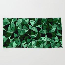 Emerald Lo Poly Beach Towel