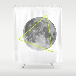 Moon Triangle Shower Curtain