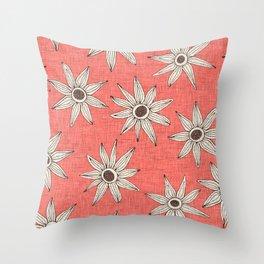sema living coral brown Throw Pillow