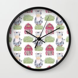 Farm Pattern Wall Clock