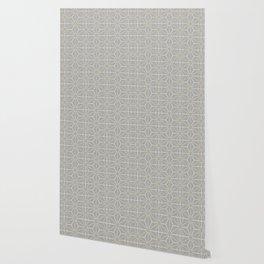 Mindful gray Japanese Asanoha (Hemp) pattern Wallpaper