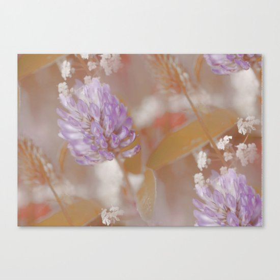 Flower Poetry In Nature Canvas Print
