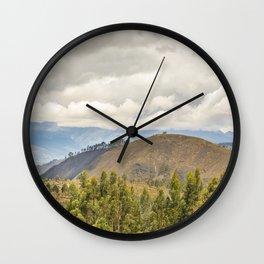 Ecuadorian Landscape at Chimborazo Province Wall Clock