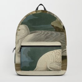 282 White winged silvery Gull Backpack