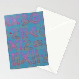 Runes in candy pink and blue Stationery Cards