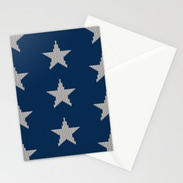 Knitted Stars Stationery Cards