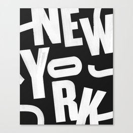New York Routes Canvas Print
