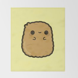 Cute chicken nugget Throw Blanket
