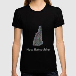 New Hampshire map T-shirt