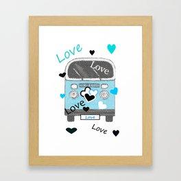 Love Bus Framed Art Print