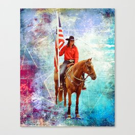 American Cowgirl  Canvas Print
