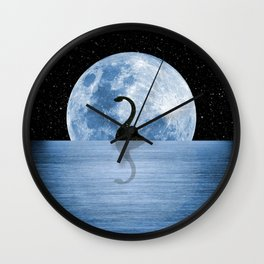 Nessie Starry Night - Loch Ness Monster Wall Clock