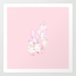 Prickly Pink Cactus Art Print
