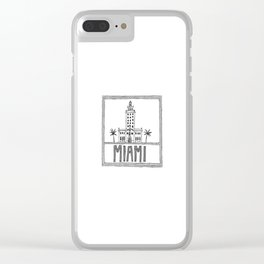 Miami - Freedom Tower Clear iPhone Case