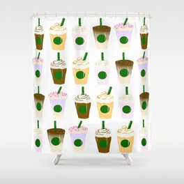 It's Frappuccino Time! Shower Curtain