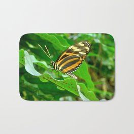 Profile of a Butterfly. Bath Mat