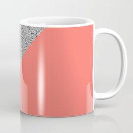 Geometrical Color Block Diagonal Concrete vs coral Coffee Mug