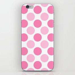 Pink polka dots iPhone Skin