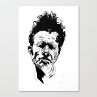 tom waits Canvas Prints featuring Tom Waits by Giorgia Ruggeri
