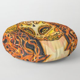 Autumnal Dia de los Muertos Floor Pillow