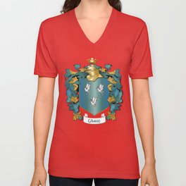 Gibson Coat of Arms and Tartan Unisex V-Neck
