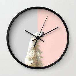 Polar Bear #society6 #decor #buyart Wall Clock