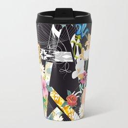 Pentagram with flowers Travel Mug