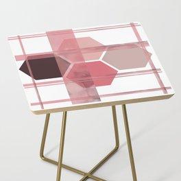 Blush Tone Geometric Side Table