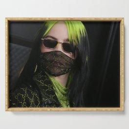 billie masker black 2021 Serving Tray