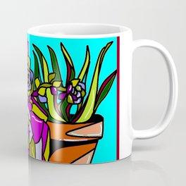 A Still Life of Succulent Plants in a Garden Scene Coffee Mug