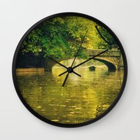 rowing Wall Clocks featuring Rowing by nature by Eduard Leasa Photography