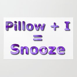 Pillow Plus I Equals Snooze Rug