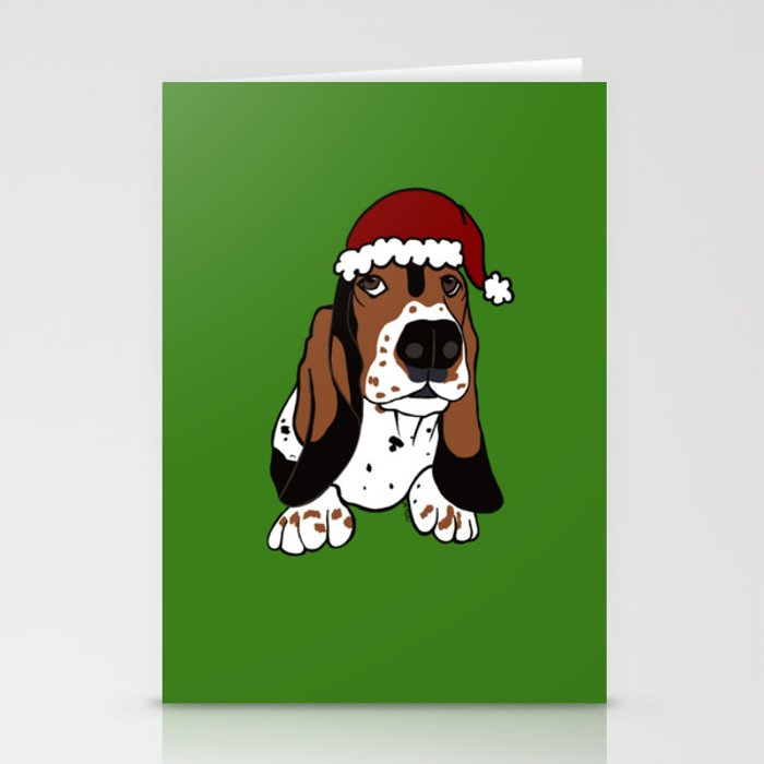 A Basset Full of Christmas Stationery Cards