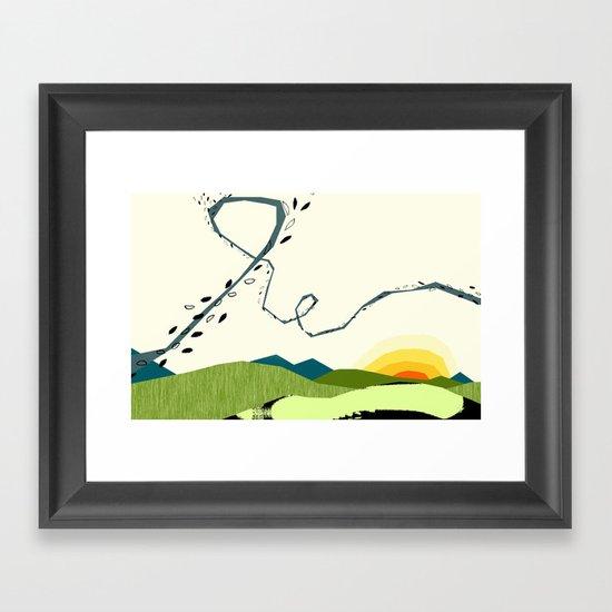 wind blown Framed Art Print