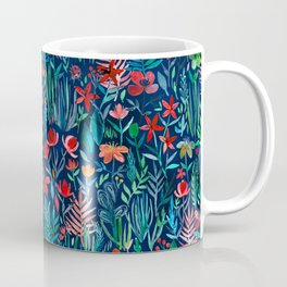 Tropical Ink - a watercolor garden Coffee Mug