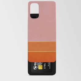 Orange, Pink And Gold Abstract Painting Android Card Case