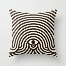 One-eyed monster Throw Pillow