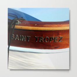 Saint Tropez Row Boat Metal Print