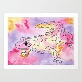 Colorful Salamander Art Print