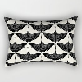 CRANE DESIGN - pattern - Black and White Rectangular Pillow