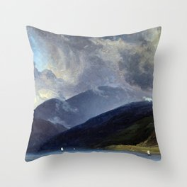 Thomas Fearnley From Balestrand at the Sognefjord Throw Pillow