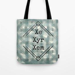 Xe/Xyr/Xem Pronouns Blue Tint Tote Bag