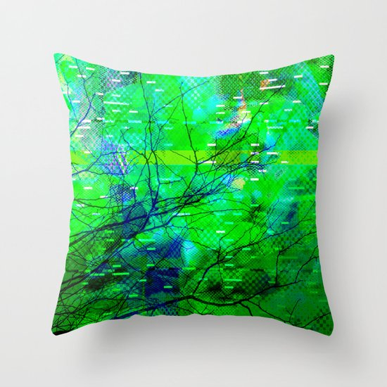 Rejected < The NO Series (Green) Throw Pillow
