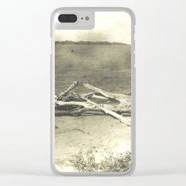 Beach wood Landscape Clear iPhone Case